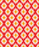 Red zigzag background for textile design Stock Photography