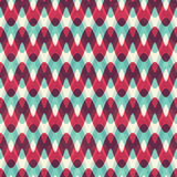 Red zigzag seamless pattern Royalty Free Stock Photo