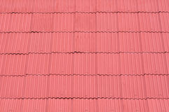 Red zinc roof Royalty Free Stock Photos