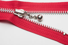 Red zipper Stock Photos