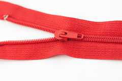 Red zipper Royalty Free Stock Photo