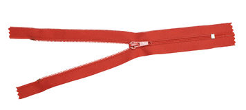 Red zipper Royalty Free Stock Image