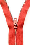Red Zipper Royalty Free Stock Photography
