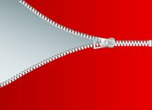 Red zipper. Vector illustration of the zipper Stock Photo