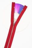 Red zipper on CD stock photos