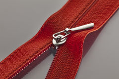 Red zipper Stock Photo
