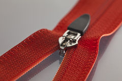 Red zipper Stock Photos