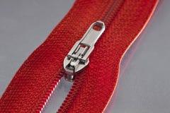 Red zipper Stock Image
