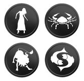 Red zodiac signs - set 1 Stock Photo