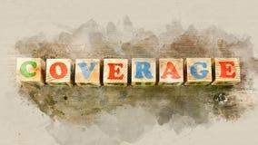 Redacte el ` de la cobertura del ` construido de bloques de madera fotos de archivo libres de regalías