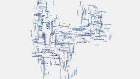 Redacte la animación corporativa de la gestión del mundo del negocio de la tipografía de la nube Foto de archivo libre de regalías