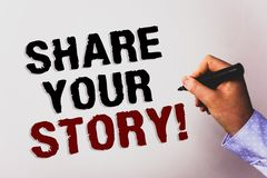 Redacte la parte del texto de la escritura su llamada de motivación de la historia Concepto del negocio para el backgro personal  fotos de archivo libres de regalías