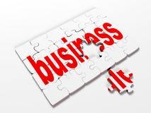 Redacte los rompecabezas referente al negocio en un fondo blanco, 3d rinden libre illustration