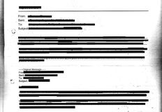 Redacted email stock illustration