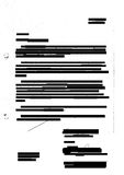 Redacted letter. Texture on photocopied sheet with hole punch marks - entirely censored Stock Images