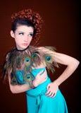 Redactie Concept met een Mooie Vrouw Royalty-vrije Stock Foto