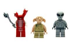 Redactie Foto - Drie cijfers Lego royalty-vrije stock afbeeldingen