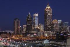 De Uit het stadscentrum Schemer van Atlanta royalty-vrije stock foto