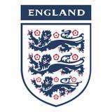 Redactie - het embleem van de de Voetbalvereniging van Engeland stock illustratie
