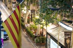 Redactie La Rambla Barcelona Royalty-vrije Stock Afbeelding