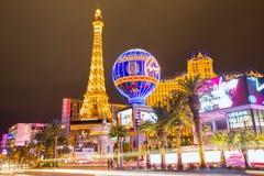 Redactiegebruik slechts Las Vegas Nevada Strip bij nacht Stock Foto's