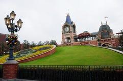 Redactiegebruiks slechts Ingang aan Disneyland Park in Shanghai Royalty-vrije Stock Fotografie