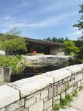 Redakcyjna biblioteka publiczna buduje Chappaqua, Nowy Jork, usa obraz stock