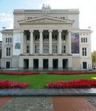 Redakcyjna Krajowa opera Ryski Latvia obrazy royalty free