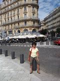 Redakcyjna Marseille Francja brasserie restauracja na głównej drodze fotografia royalty free