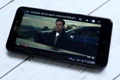 Redakcyjna piosenka widzii ciebie znowu sławna piosenka na Youtube obrazy royalty free