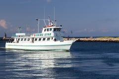 Redakcyjna Viking połowu przyjęcia łódź Montauk zdjęcia stock