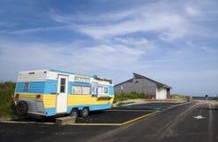 Redakcyjne lemoniada furgonu przykopu równiny Montauk Nowy Jork zdjęcia stock