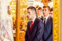 Redakcyjnego reportażu kopyto_szewski Lutsk stopnia dzwonkowa 11th szkoła średnia 14 30 05 15 Obraz Stock