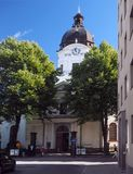 Redakcyjny Adolf Fredrik Kościelny Sztokholm Szwecja obrazy stock