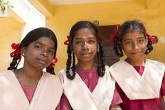 Redakcyjny dokumentalny wizerunek, portrety szkolni ucznie Zdjęcia Royalty Free