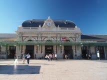 Redakcyjny dworzec Ładny Francja zdjęcia stock