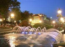 Redakcyjny fontanny Knez Mihailova St Belgrade Serbia obrazy stock