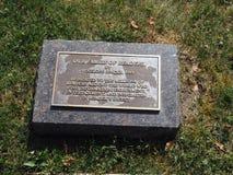 Redakcyjny footstone dla rzeźby biblioteki publicznej buduje Chappa zdjęcie stock