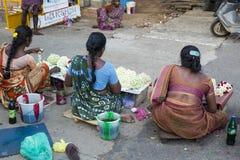 Redakcyjny illustrative wizerunek Biedna pracownik kobieta w India Zdjęcie Stock
