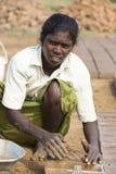 Redakcyjny illustrative wizerunek Biedna pracownik kobieta w India Zdjęcia Stock