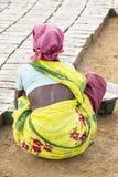 Redakcyjny illustrative wizerunek Biedna pracownik kobieta w India Obrazy Royalty Free