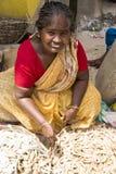 Redakcyjny illustrative wizerunek Biedna pracownik kobieta w India Obraz Stock