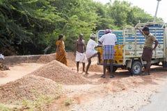 Redakcyjny illustrative wizerunek Biedny pracownika mężczyzna w India Obrazy Stock