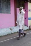 Redakcyjny illustrative wizerunek Indianin barwiący dom obrazy stock