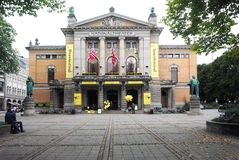 Redakcyjny Krajowy teatr Oslo Norwegia zdjęcie stock