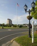 Redakcyjny Montauk, Nowy Jork wioski zieleń Zdjęcia Stock