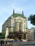Redakcyjny Moskva Hotelowy Belgrade Serbia obrazy royalty free