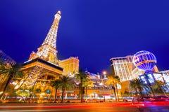Redakcyjny use tylko Las Vegas Nevada pasek przy nocą Obrazy Stock