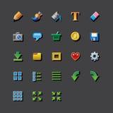 Redaktören för app för den färgrika rengöringsduken bearbetar den grafiska symboler stock illustrationer
