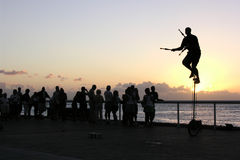 Key West solnedgång Fotografering för Bildbyråer